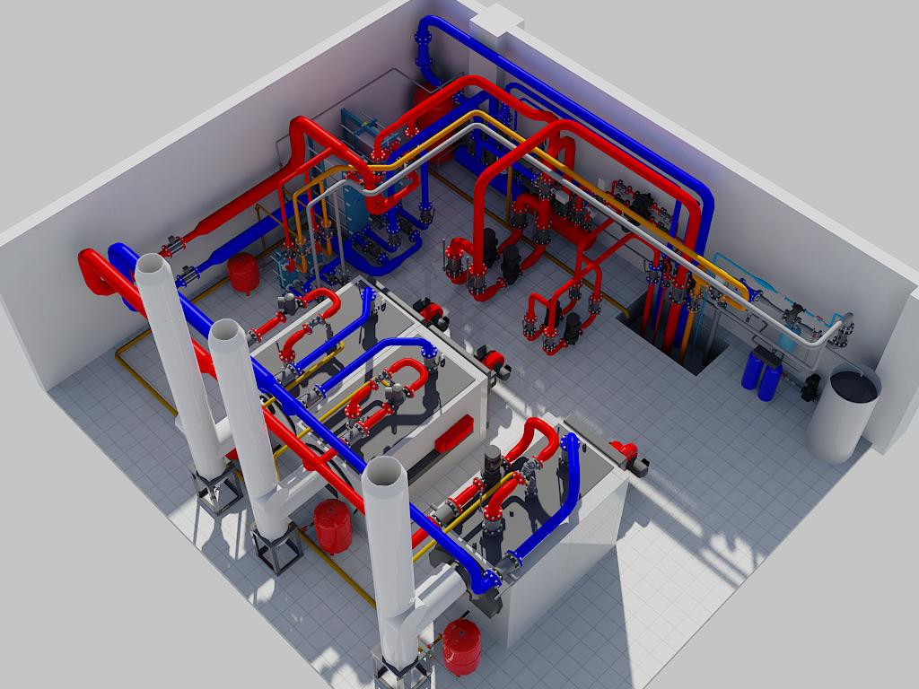 модульная котельная для 60000 м3 объем помещения