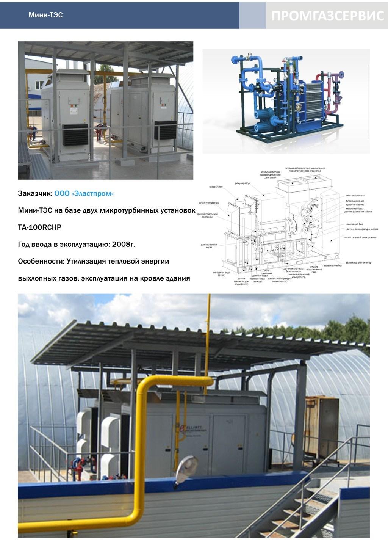 Мини-ТЭС на базе двух микротурбинных установок TA-100RCHP