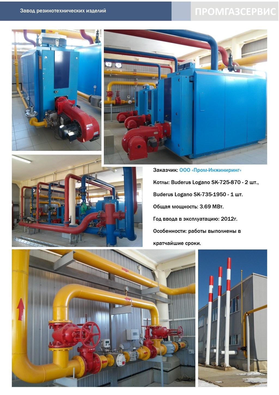 Котлы Buderus Logano SK-725-870 и SK-735-1950 общей мощностью 3.69 МВт