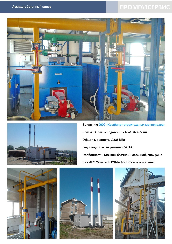Котлы Buderus Logano SK-745-1040 общей мощностью 2.08 МВт