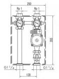 Насосная группа для прямого контура отопления с 3-х ступенчатым насосом (307566)